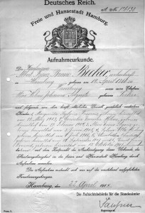 Staatsangehörigkeits-Urkunde