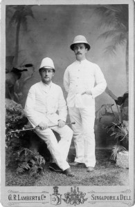 Ernst und Hans Becker 1891 in Singapore