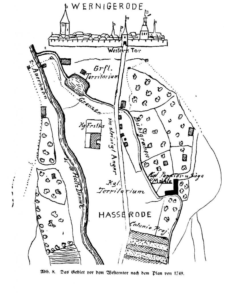 Das Gebiet vor dem Westerntor - 1749