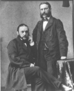 Becker, Rudolph (sitzend) + Hermann