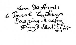 KB Kl.Lengden - Beerdigungen 1699 -Nr.6