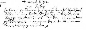 Becker, Johannes, Pate1692