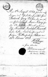 Heinrich Becker - Geburtsurkunde