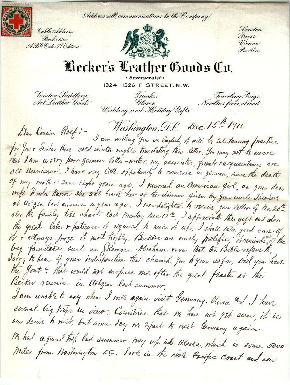 64.11.1. Brief 1 vom 15.12.1910 V