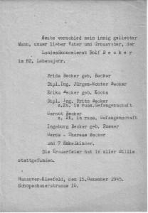 Rolf Becker - Todesanzeige