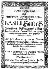 Basilius Sattler Leichenpredigt