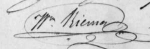 Unterschrift G.W. Riema