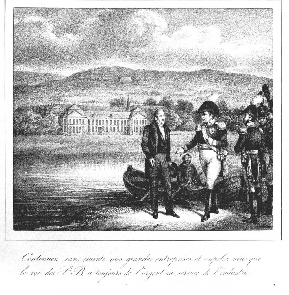 Übergabe von Seraing durch König Wilhelm I.- 1817