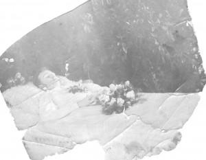 Erich Claassen auf dem Totenbett