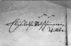 Unterschrift  Elisabeth Melsheimer