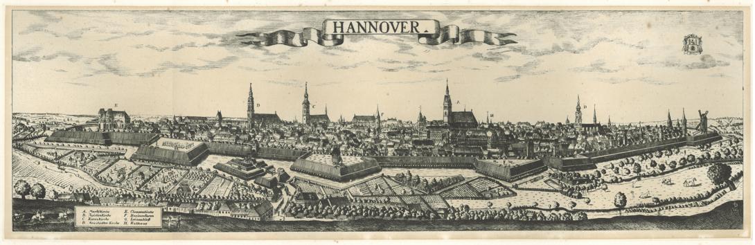 Friedrich_Bernhard_Werner,_Ansicht_der_Stadt_Hannover_von_Nordwesten_mit_Blick_über_die_I