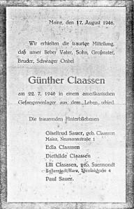 Anzeige 1946