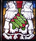 Glasfenster Wappen Grönhagen