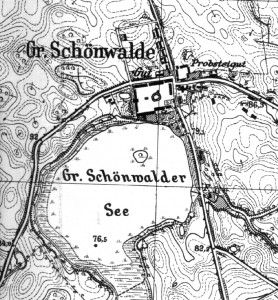 GrossSchönwalde -Lageplan-Ausschnitt