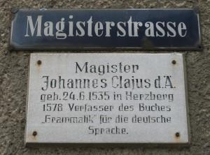 Magisterstraße in Herzberg