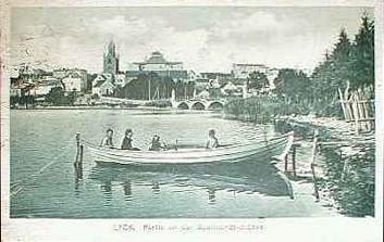 Lyck, Partie an der Suermondt-Brücke, 1921
