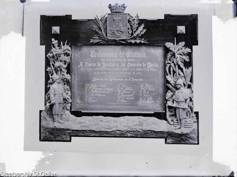 Plakette Manila 1894
