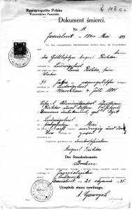 Todesurkunde Ludwig Richter