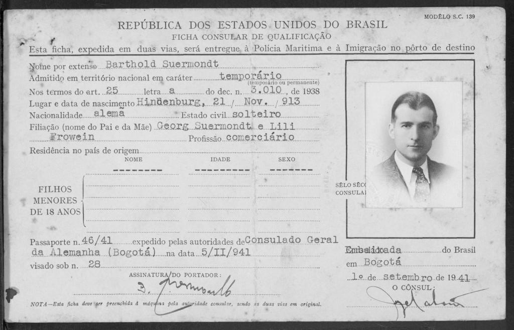 Barthold Suermondt  - Immigration Brasil