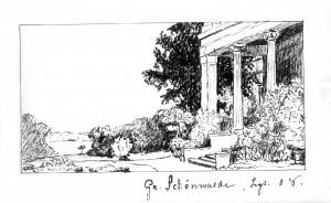Terrasse und Park - 1908