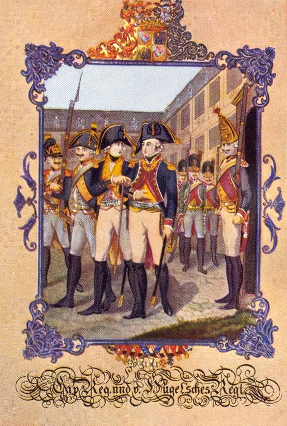 """Uniformen des Kapregiments """"von Hügel"""""""