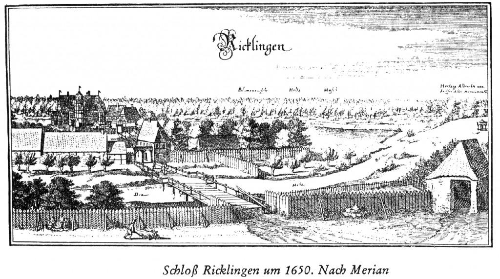 Schloß Ricklingen - Merian um 1650