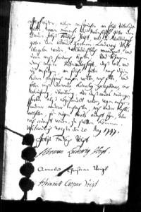 Erbauseinandersetzungs-Vertrag 1747