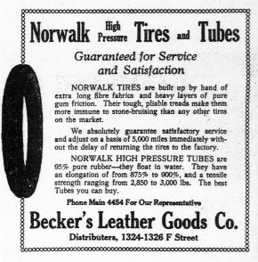 Becker's - Tyres and Tubes -1917