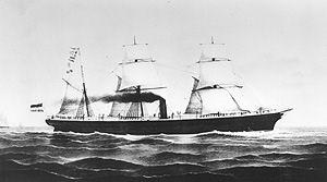 "Dampfschiff ""Saxonia"""