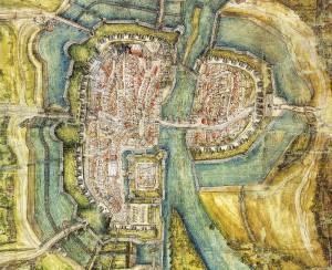 Stadtplan Kassel von 1547